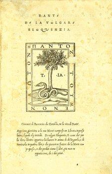15C: Dante Alighieri. De la Volgare Eloquenzia