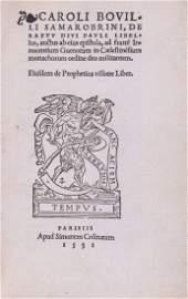 Bouelles -  De Raptu Divi Pauli Libellus, Auctus Eius