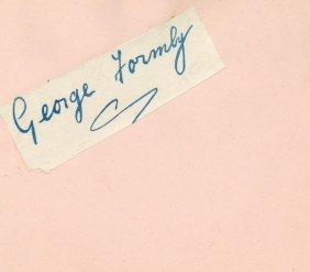 Autograph Album - Incl. George Formby - Autograph Album