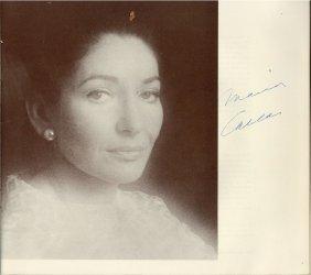 Callas, Maria & Others - Souvenir Programme For Maria