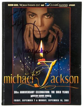 Jackson, Michael - Rare Copy Of The Programme Of