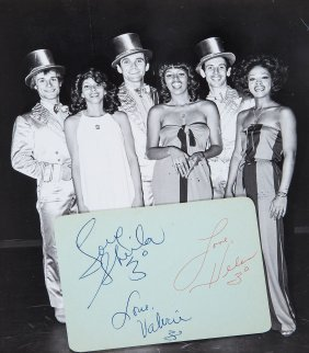 Three Degrees, The - Album Page Signed By Valerie