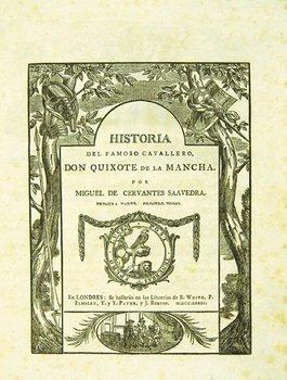 183E: Cervantes Don Quixote de la Mancha, 1781