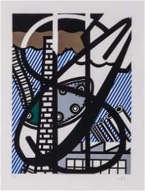 """Roy Lichtenstein (1923-1997) - Illustration for """"Une"""