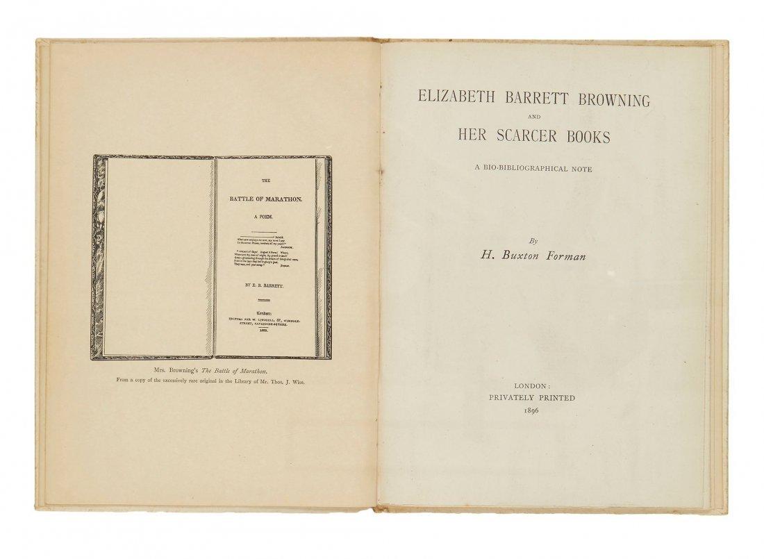 Forman -  Elizabeth Barrett Browning and her scarcer
