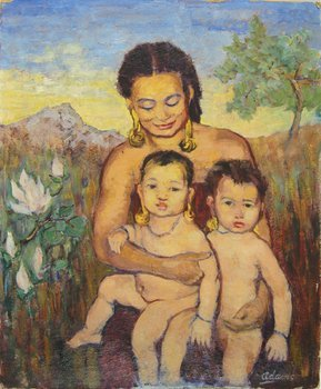 1A: Adams (Nancy) A Kayan Mother and Children