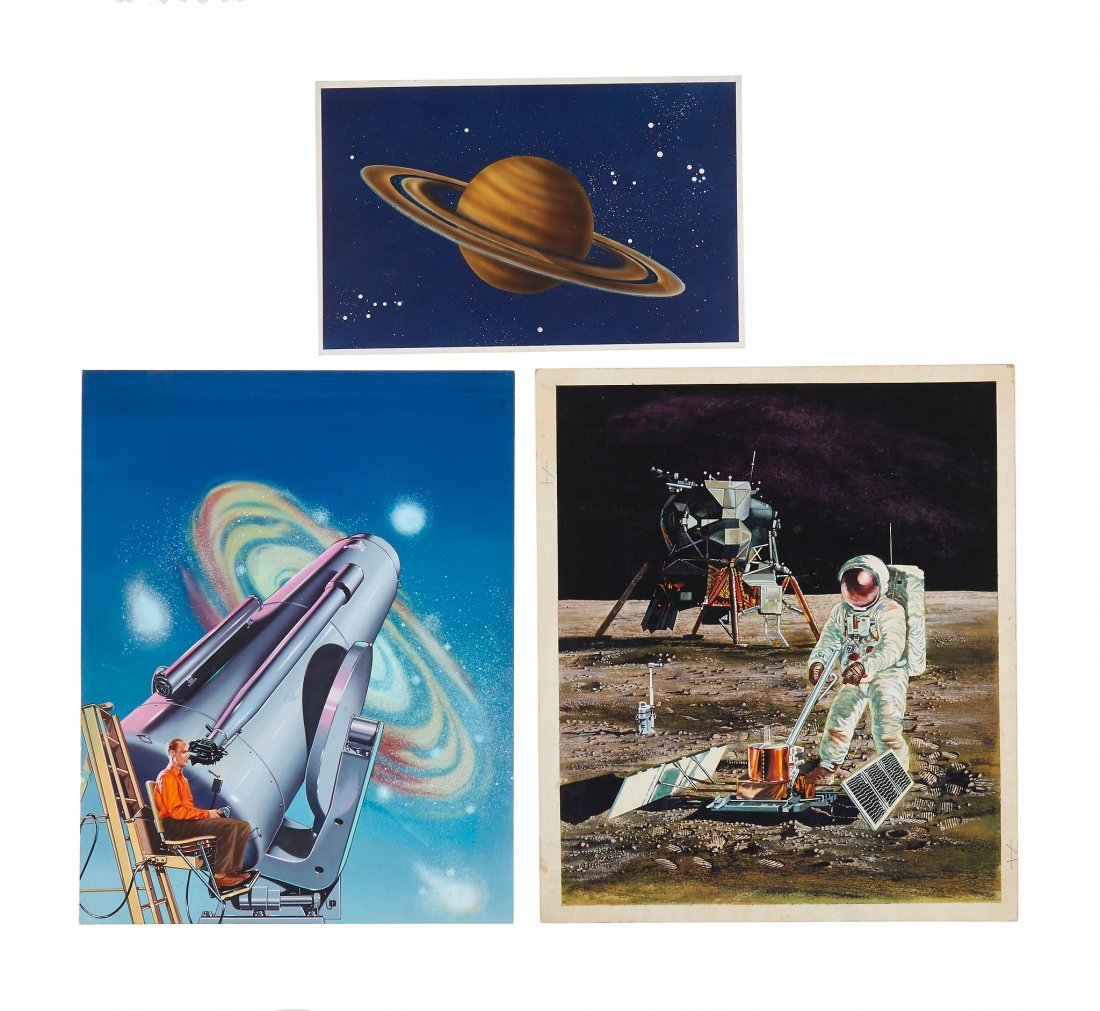 Space.- - a small group of illustrations of planets and