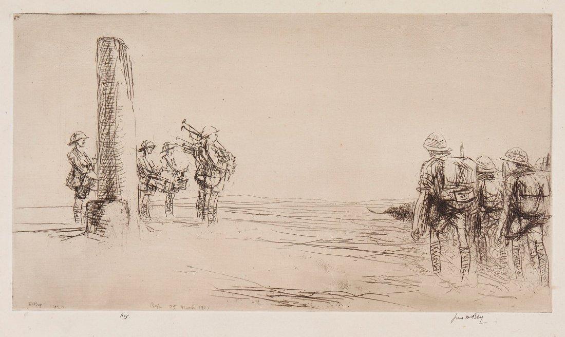 McBey (James) - 1588 (first state); Veere; Palestine-