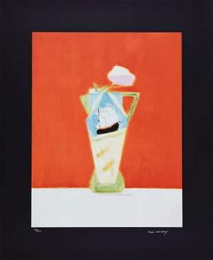 Craigie Aitchison (1926-2009) - Still Life on