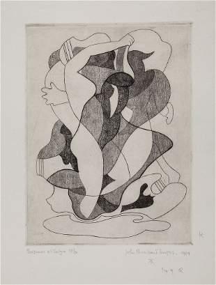 John Buckland-Wright (1897-1954) - Baigneuse et Satyre