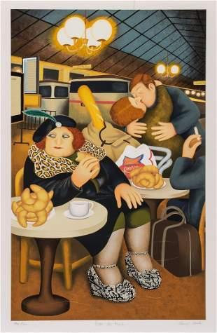 Beryl Cook (1926-2008) - Gare du Nord