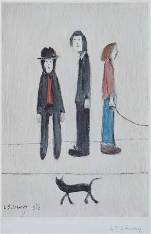 Laurence Stephen Lowry (1887-1976)(after) - Three Men