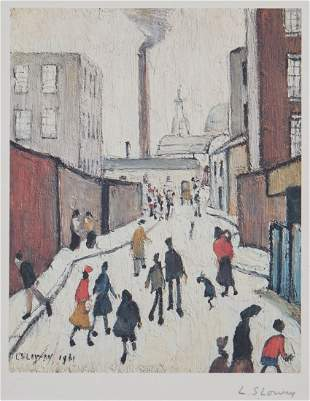 Laurence Stephen Lowry (1887-1976)(after) - Street