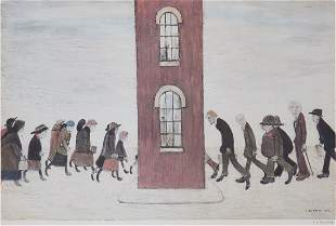 Laurence Stephen Lowry (1887-1976)(after) - Meeting