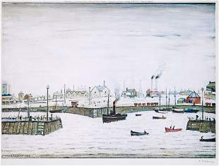 Laurence Stephen Lowry (1887-1976)(after) - Harbour