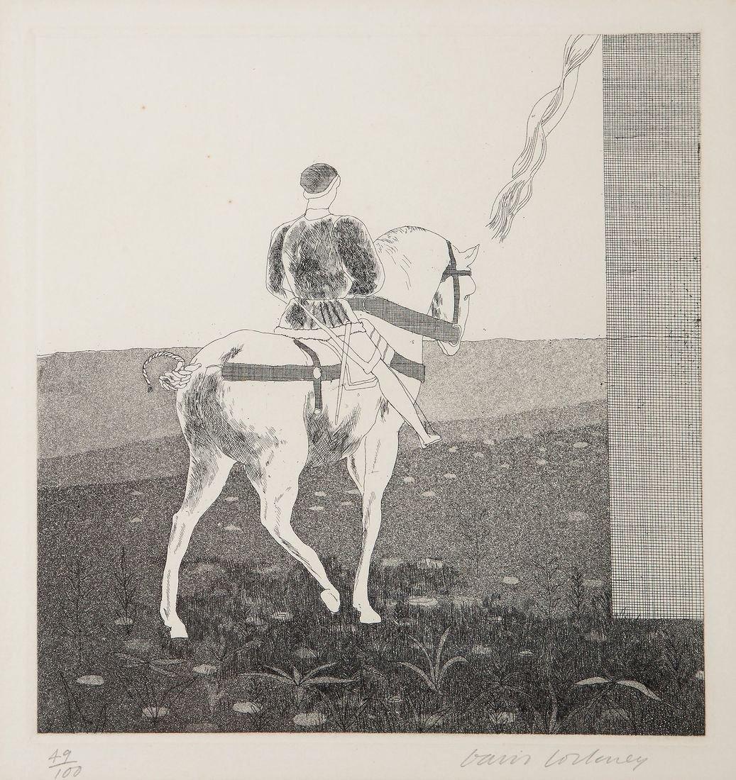 David Hockney (b.1937) - Rapunzel, Rapunzel, let down