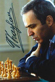 1B: A signed photograph of Garry Kasparov