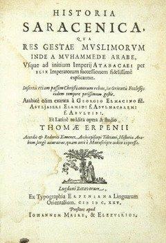 4D: al-Makin,Elmacinus. Historia Saracenica,1625
