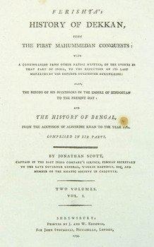 374D: Ferishta.History of Dekkan, 2 vol,1794