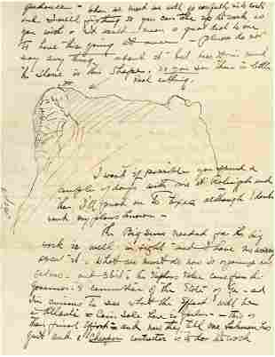 Borglum, Gutzon - Autograph letter signed addressed to