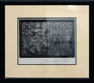Chagall, Marc - Glossy, black and white photograph of
