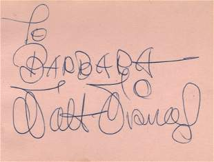Disney, Walt - Pink album page, signed and inscribed