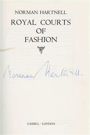 Hartnell, Norman - ROYAL COURTS OF FASHION, signed by