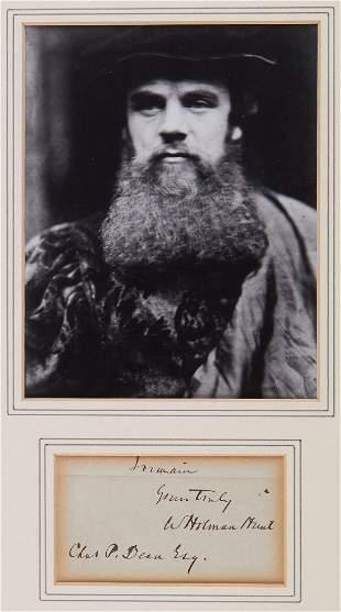 Hunt, William Holman - Final part of an autograph