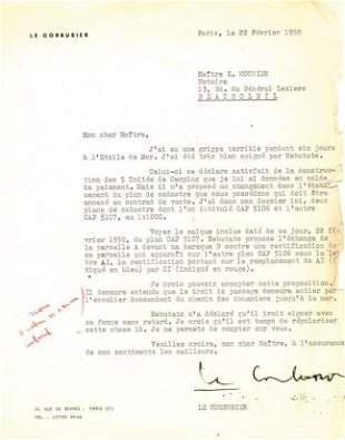 Le Corbusier - Typed letter signed on