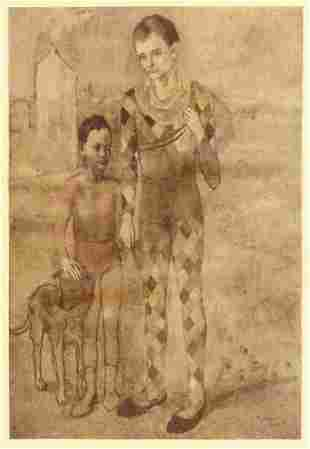 Picasso, Pablo - Reproduction postcard print of 'Two