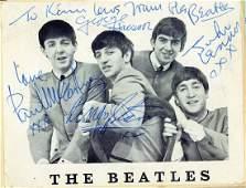 Autograph book incl. the Beatles - Autograph album