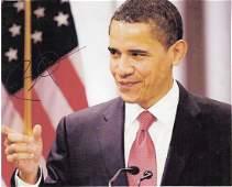 Obama Barack  Colour head and shoulders photograph