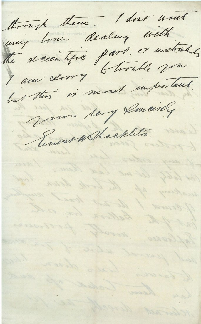 Shackleton, Ernest - Autograph letter signed , to Cyril - 2