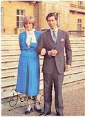 Diana, Princess of Wales - Signed colour postcard of