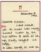 Diana, Princess of Wales - Signed letter by Diana to