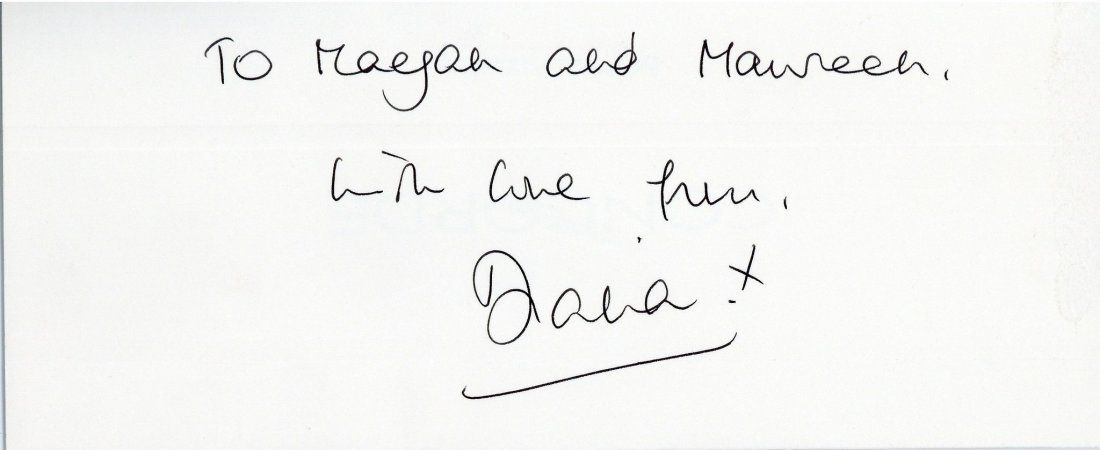 Diana, Princess of Wales - Autograph note signed by
