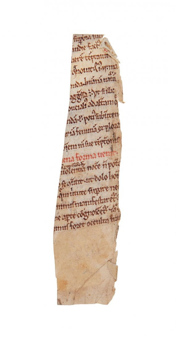 Peter Lombard, Sentences, in Latin, on parchment