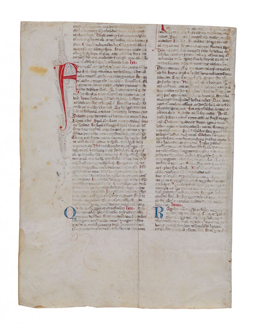 Collection of leaves from medieval manuscripts on