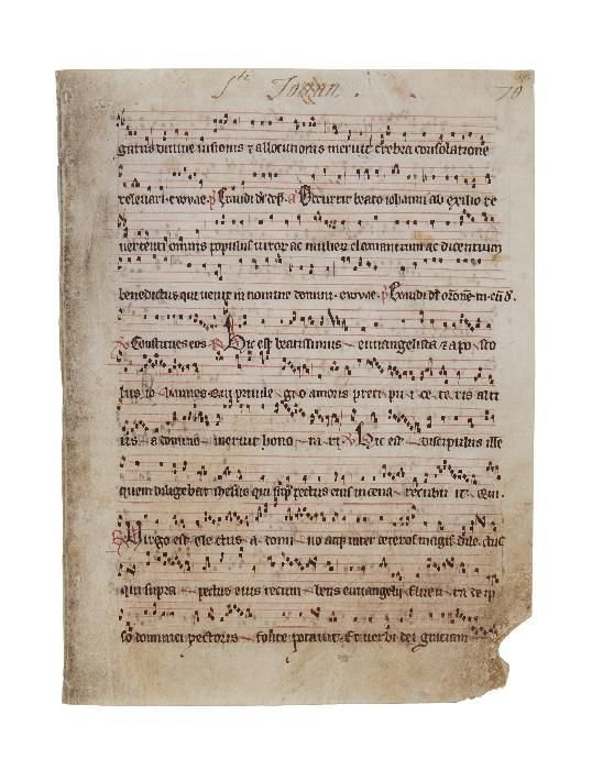 Collection of leaves from musical manuscripts