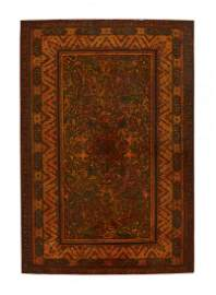 A finely illuminated early Qajar lacquered board,
