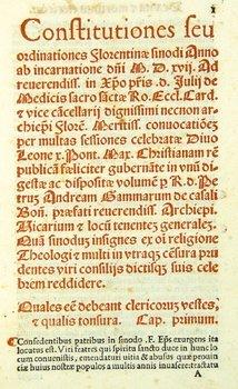 6E: Statuta Concilii Florentini