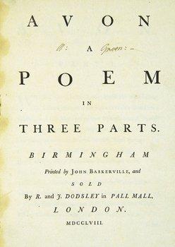 17E: Huckell (John) Avon, A Poem in Three Parts