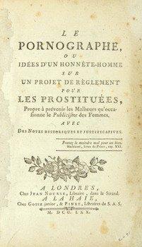 18E: Restif de la Bretonne. Le Pornographe