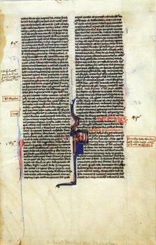 2A: Bible, Latin. Leaf from a Parisian Bible