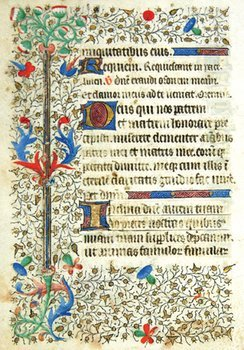 9A: Book Of Hours, single leaf