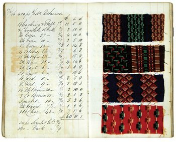 128A: Cloth Samples.- Dyer's