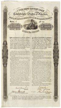 244B: Confederate States of America, 7% Cotton Loan, bo