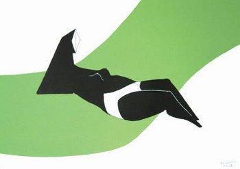 15E: Chadwick (Lynn) reclining figure on green