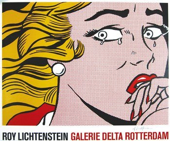 460E: Lichtenstein (Roy) after. crying girl poster