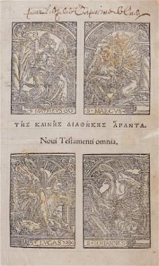 Bible, - Greek . Tes Kaines Diathekes apanta [graece ]